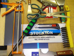 Decorating tools for trade and retail customers